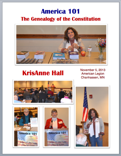 Genealogy of Our Constitution - KrisAnne Hall at America 101, Nov 5, 2013
